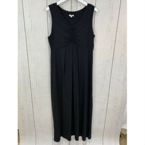 Talbots Black Maxi Dress Sleeveless Large